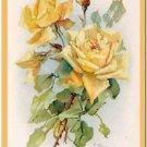Beautiful Vintage Decor Collectible Kitchen Fridge Magnet - Yellow Roses