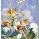 Beautiful Vintage Decor Collectible Kitchen Fridge Magnet - Dance of the Sea