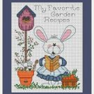 Cross-Stitch Embroidery Color Pattern DMC thread codes- Garden Bunny