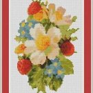 Cross-Stitch Embroidery Color Pattern with DMC codes-Victorian Garden Flowers #2