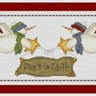 Cross-Stitch Embroidery Color Pattern with DMC thread codes - Peace on Earth #2
