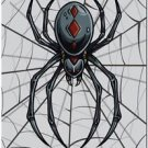 Decor Collectible Kitchen Fridge Magnet - Scary Black Widow Spider