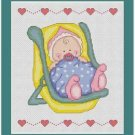 Cross-Stitch Embroidery Color Pattern with DMC codes -  Baby Pattern