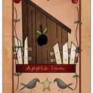 Primitive Country Folk Art Kitchen Refrigerator Magnet - Prim Country Apple Inn