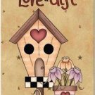 Primitive Country Folk Art Kitchen Refrigerator Magnet - Love is a Gift