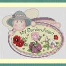 Cross-Stitch Embroidery Color Digital Pattern w. DMC codes - My Garden Angel