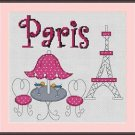Cross-Stitch Embroidery Color Pattern with DMC thread codes - Life in Paris
