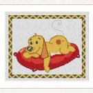Cross-Stitch Embroidery Color Pattern with DMC codes - Happy Puppy #2