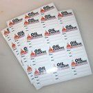 24 High Quality Generic Oil Change Service Reminder Stickers, White Static Cling