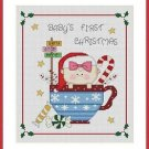 Cross-Stitch Embroidery Color Pattern with DMC thread codes -Baby's Christmas