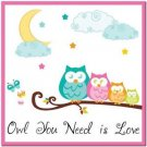 Beautiful Fun Decor Design Collectible Kitchen Fridge Magnet - Owl You Need..