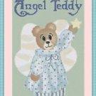Cross-Stitch Embroidery Color Digital Pattern w. DMC codes - Angel Teddy Bear