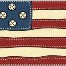 Beautiful Decor Design Collectible Kitchen Fridge Magnet - Patchwork US Flag #2