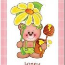 Beautiful Cute Decor Design Collectible Kitchen Fridge Magnet -Flower Teddy Bear