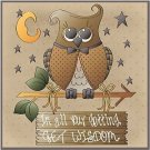 Primitive Country Folk Art Kitchen Refrigerator Magnet - Wisdom Owl