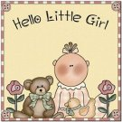 Beautiful Cute Decor Design Collectible Kitchen Fridge Magnet -Hello Little Girl