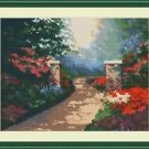 Cross-Stitch Embroidery Color Pattern with DMC thread codes-Foggy Summer Morning