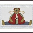 Cross-Stitch Embroidery Color Pattern with DMC codes - Cute Tedy Bear Angel #3