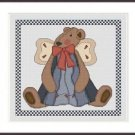 Cross-Stitch Embroidery Color Pattern with DMC codes - Cute Tedy Bear Angel #2