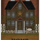 Primitive Country Folk Art Kitchen Refrigerator Magnet - Prim House - Home