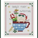 Cross-Stitch Embroidery Color Pattern with DMC thread codes -Baby's Christmas #2