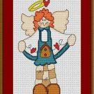 Cross-Stitch Embroidery Color Pattern with DMC thread codes - Birdhouse Angel