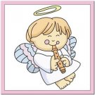 Beautiful Cute Decor Design Collectible Kitchen Fridge Magnet - Angel with Flute