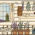 Primitive Country Folk Art Kitchen Refrigerator Magnet - Prim Herb Garden