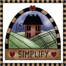 Primitive Country Folk Art Kitchen Refrigerator Magnet - Simplify Prim House