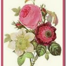 Beautiful Vintage Decor Collectible Kitchen Fridge Magnet - Garden Flowers