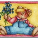Cute Collectible Art Kitchen Fridge Refrigerator Magnet - Gardening Bear