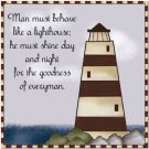 Primitive Country Folk Art Kitchen Refrigerator Magnet - LightHouse Quote #8