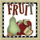 Primitive Country Folk Art Kitchen Refrigerator Magnet - Fruit for Everyone #2