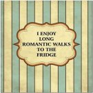 Funny Collectible  Kitchen Fridge Refrigerator Magnet ~  Long Romantic Walks