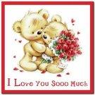 Cute Valentine's Day Love Kitchen Refrigerator Magnet - Sweet Teddy Bear Couple