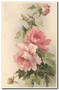 Beautiful Vintage Decor Collectible Kitchen Fridge Magnet - Pink Wild Roses