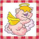 Beautiful Cute Decor Collectible Kitchen Fridge Magnet - Sleeping Angel Cat #4