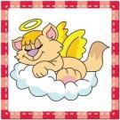 Beautiful Cute Decor Collectible Kitchen Fridge Magnet - Sleeping Angel Cat #10