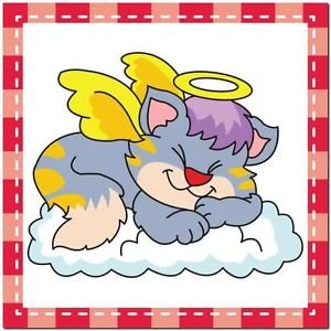 Beautiful Cute Decor Collectible Kitchen Fridge Magnet - Sleeping Angel Cat #8