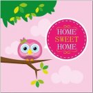 Beautiful Decor Design Collectible Kitchen Fridge Magnet - Home Sweet Home Owl
