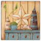 Primitive Country Folk Art Kitchen Refrigerator Magnet - Summer Memories