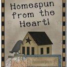 Primitive Country Folk Art Kitchen Refrigerator Magnet - Homespun from the Heart
