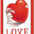 Cute Valentine's Day Love Kitchen Refrigerator Magnet - Little Bunny with Heart