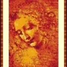 Cross-Stitch Color PATTERN with DMC codes - Leonardo da Vinci Testa di Fanciulla