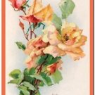 Beautiful Vintage Decor Collectible Kitchen Fridge Magnet - Rose Bouquet #2