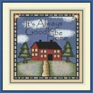Cross-Stitch Embroidery Color PATTERN with DMC thread codes - Good to be Home