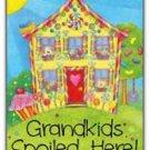 Primitive Country Folk Art Kitchen Refrigerator Magnet-Grandkids Spoiled Here #2