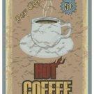 Beautiful Retro Decor Collectible Kitchen Fridge Magnet - Best Hot Coffee