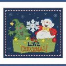 Cross-Stitch Embroidery Color Pattern with DMC thread code-We love Christmas! #2