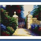 Cross-Stitch Embroidery Color Pattern with DMC thread codes -Old Park in England